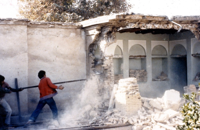 destruction of baha'i holy place