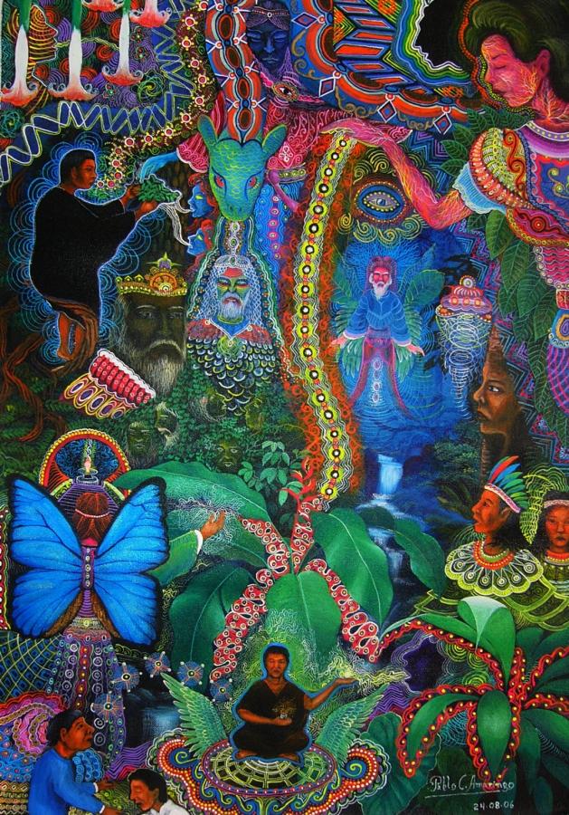 blue butterfly mural